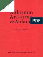 Arda Denkel Anlaşma Anlatma Ve Anlama Boğaziçi Üniversitesi Yayınları