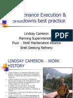 Asset Management Council 1005 Maintenance Execution and Shutdowns Best Practice