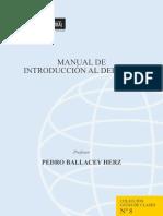 Herz Ballacey, Pedro (2001). Manual de Introducción Al Derecho (2)