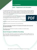 SDCEP Drug Prescribing for Dentistry Update Sept 2014
