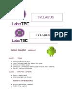 Syllabus Android