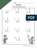 Multiplication Worksheet 2