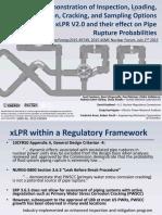 Demonstration of Inspection, Loading, Mitigation, Cracking and Sampling With XLPR V2.0