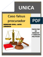 Acto Juridico Caso Falsus