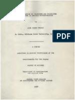 Investigation of Procedure and Techniques Involved in Graphic Representation 1958