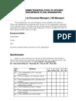 Questionnaires-PM & HRM