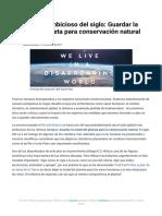 El Plan Más Ambicioso Del Siglo_ Guardar La Mitad Del Planeta Para Conservación Natural