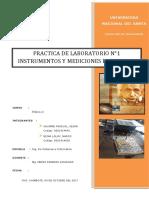 Laboratorio N°1 Instrumentos y Mediciones Electricas