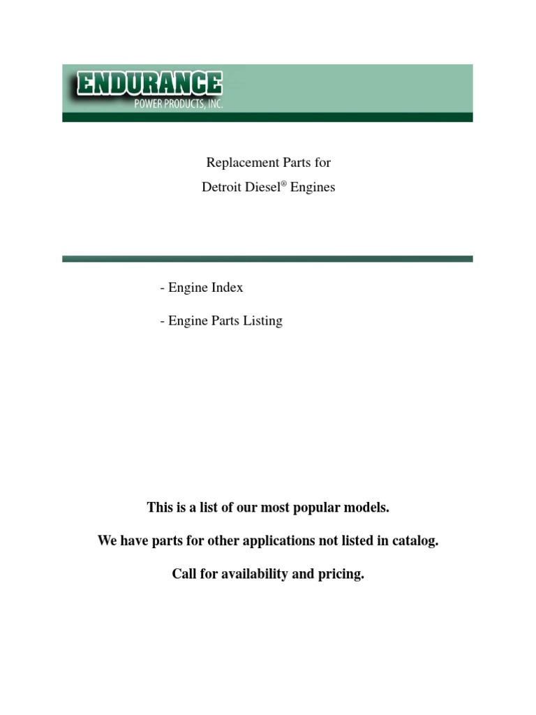232306157 Catalog Detroit Dieselpdf Piston Cylinder Engine Series 53 Diesel Wiring