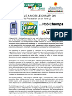 Aug 4 - Mobile Champions Press Release