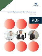 Professional Indemnity Zurich Policy