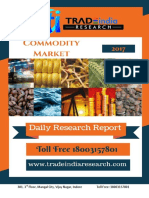 Daily Commodity Prediction Report by TradeIndia Research - 25-10-2017