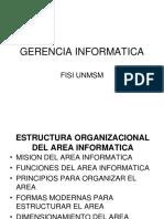 Gerencia Informatica Estructura Organizacional