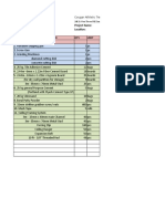 g4 Proj Materials List