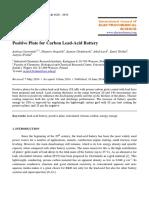Positive Plate Carbon