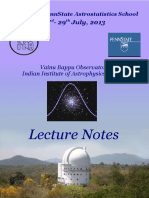 Astro Stat Book of Notes