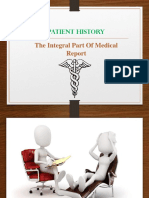 Patient History - The Integral Part of Medical Report