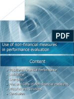 Use of Non-financial Measures in Performance Evaluation