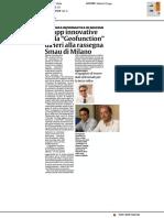 """Le app innovative della """"Geofunction"""" allo SMAU di Milano - La Sicilia del 25 ottobre 2017"""