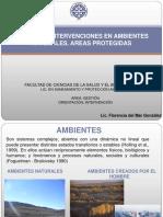 Disturbio Restauracion Areas Protegidas