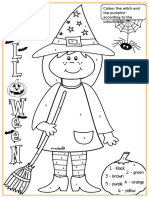 Halloween Witch Colouring Classroom Posters Fun Activities Games 59882