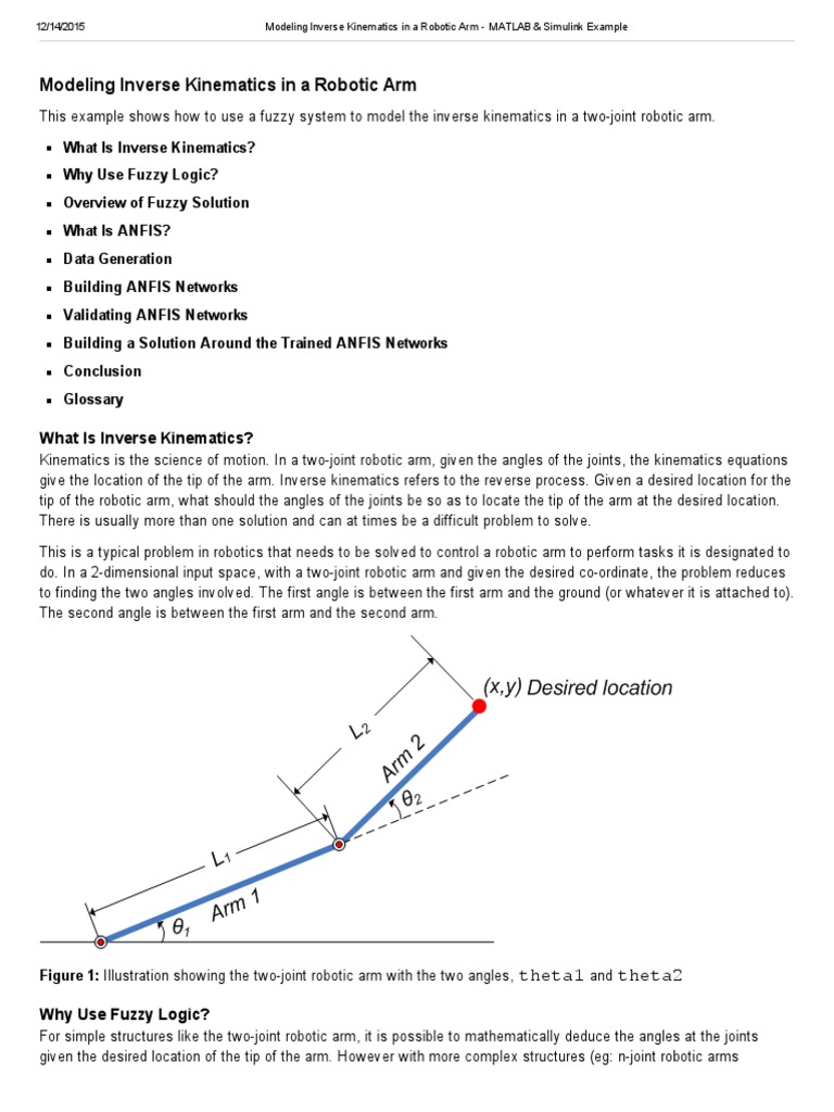 Modeling Inverse Kinematics in a Robotic Arm - MATLAB & Simulink