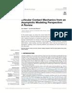 Articular Contact Mechanics