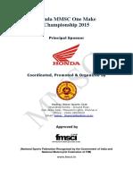 Honda MMSC One Make Championship 2015