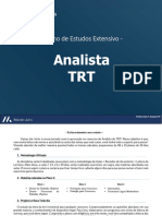 Plano de Estudos 1ª Fase Analista TRT