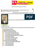 [Studyplan] RBI Grade B Officers (Preliminary) Objective Phase-I Exam _ Booklist, Strategy, Previous Question Paper - Mrunal