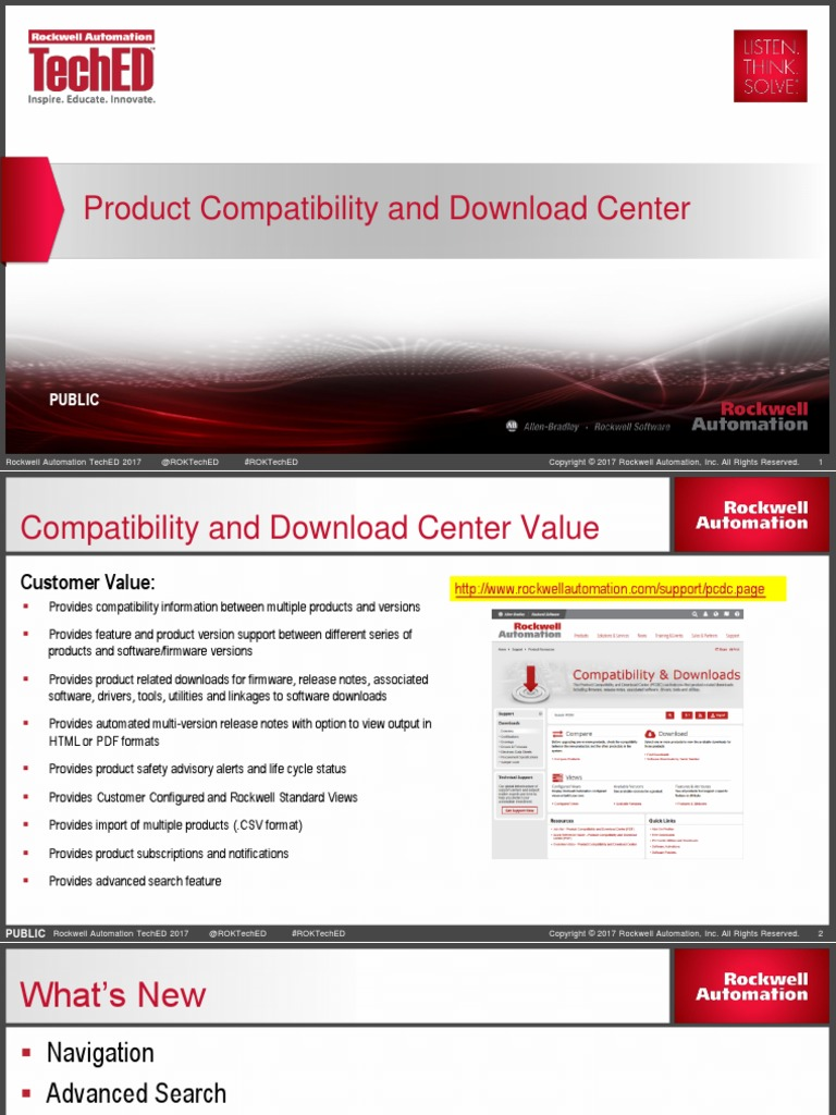 Rockwell Automation TechED 2017 - TS14 - Product