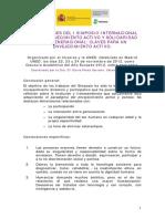 1 Material Complementario 2 Conclusiones I Simposio Internaciona Envejecimiento Activo