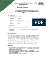 Informe Técnico de La Situación Actual Vias Sol Naciente Co