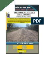 Perfil Pistas y Veredas de Rio Blanco-Huaccana