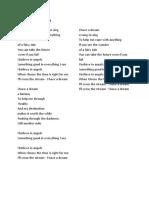 Famous songs' lyric