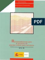 Rpx 95 Recomendaciones Proyecto de Puentes España