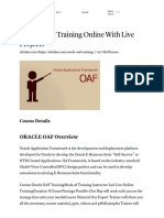 Oracle OAF Training Online With Live Projects