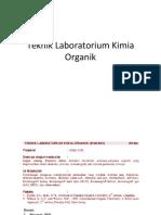 Kuliah 1 Teknik Lab Kimia Organik