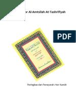 Mukhtashor Amtsilah Tashrifiyah