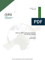 CEPII Distances Measures