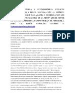 Tención Venezuela y Latinoamérica