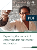 Exploring the Impact of Career Models on Teacher Motivation Lucy Crehan 2016 UNESCO