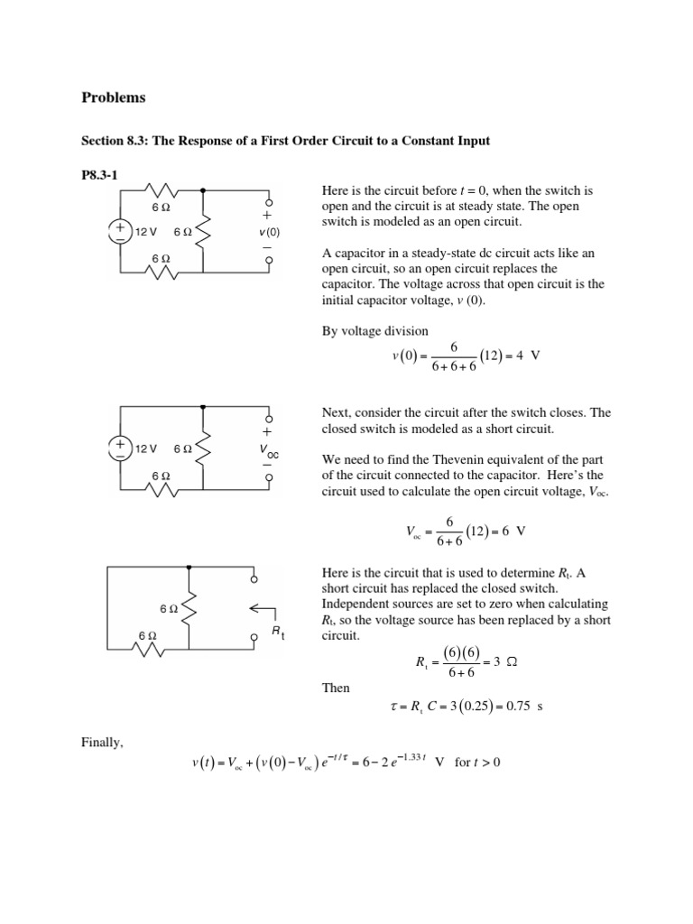 Chapter 8 The Complete Response Of Rl And Rc Circuits Electrical Short Circuit Open Network Series Parallel