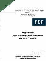 Reglamento Baja Tensión ANDE - Paraguay