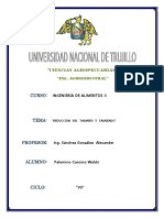 Practica de Laboratorio REDUCCIÓN DEL TAMAÑO Y TAMIZADO - Ingenieria de Alimentos 2 - UNT Vj