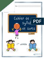 Cahier Syllabes Et Sons 1re Année