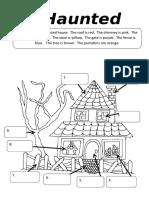 A Haunted House Fun Activities Games Picture Description Exercises 11824