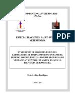 Evaluación de Los Resultados Del Laboratorio de Toxinas Marinas Durante El Periodo 2008-2012, En El Marco Del Programa de Vigilancia y Control de Marea Roja en La Provincia de Río Negro