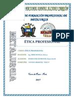 Monografia Etica Profesional