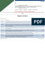 SFDSA Lawsuit Registry of Actions